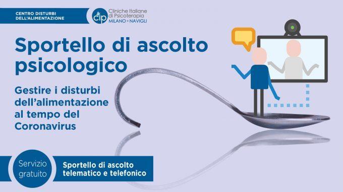 Gestire i disturbi dell'alimentazione al tempo del Coronavirus – CIP Milano offre uno sportello di ascolto psicologico gratuito