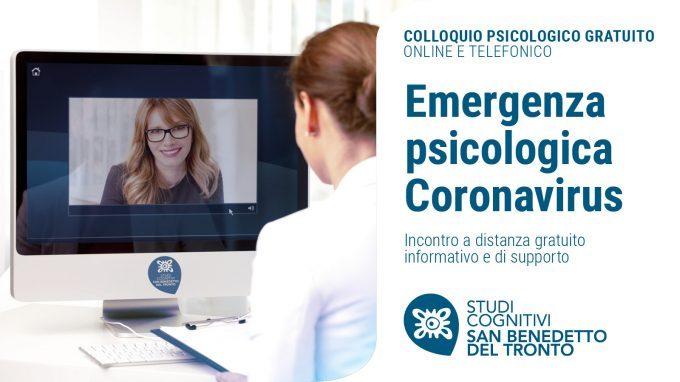 Emergenza Psicologica Coronavirus – Studi Cognitivi San Benedetto del Tronto offre un colloquio psicologico gratuito online o telefonico