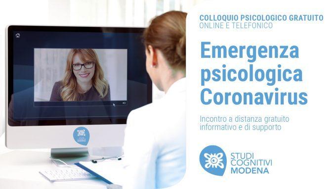 Emergenza Psicologica Coronavirus – Studi Cognitivi Modena offre un colloquio psicologico gratuito online o telefonico