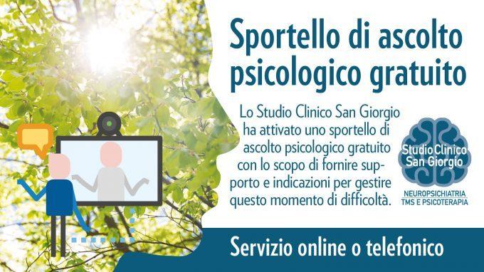 Sportello di ascolto psicologico gratuito – Studio Clinico San Giorgio