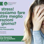 Ahh che stress! Cosa possiamo fare per gestire meglio le frustrazioni di ogni giorno? - WEBINAR, 22 Settembre 2020