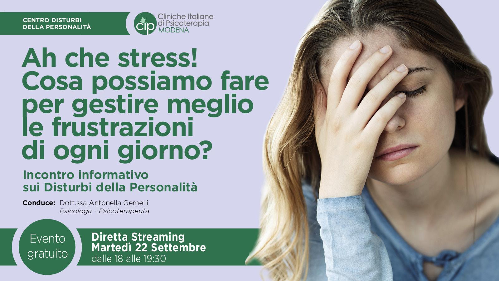 CIP MODENA - 200922 - Frustrazioni - Banner