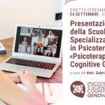 Psicoterapia e Scienze Cognitive Genova: presentazione ONLINE della Scuola di Psicoterapia –  24 Settembre 2020