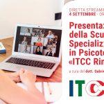 Presentazione della Scuola di Psicoterapia ITCC di Rimini -  Evento in DIRETTA STREAMING, 04 settembre 2020