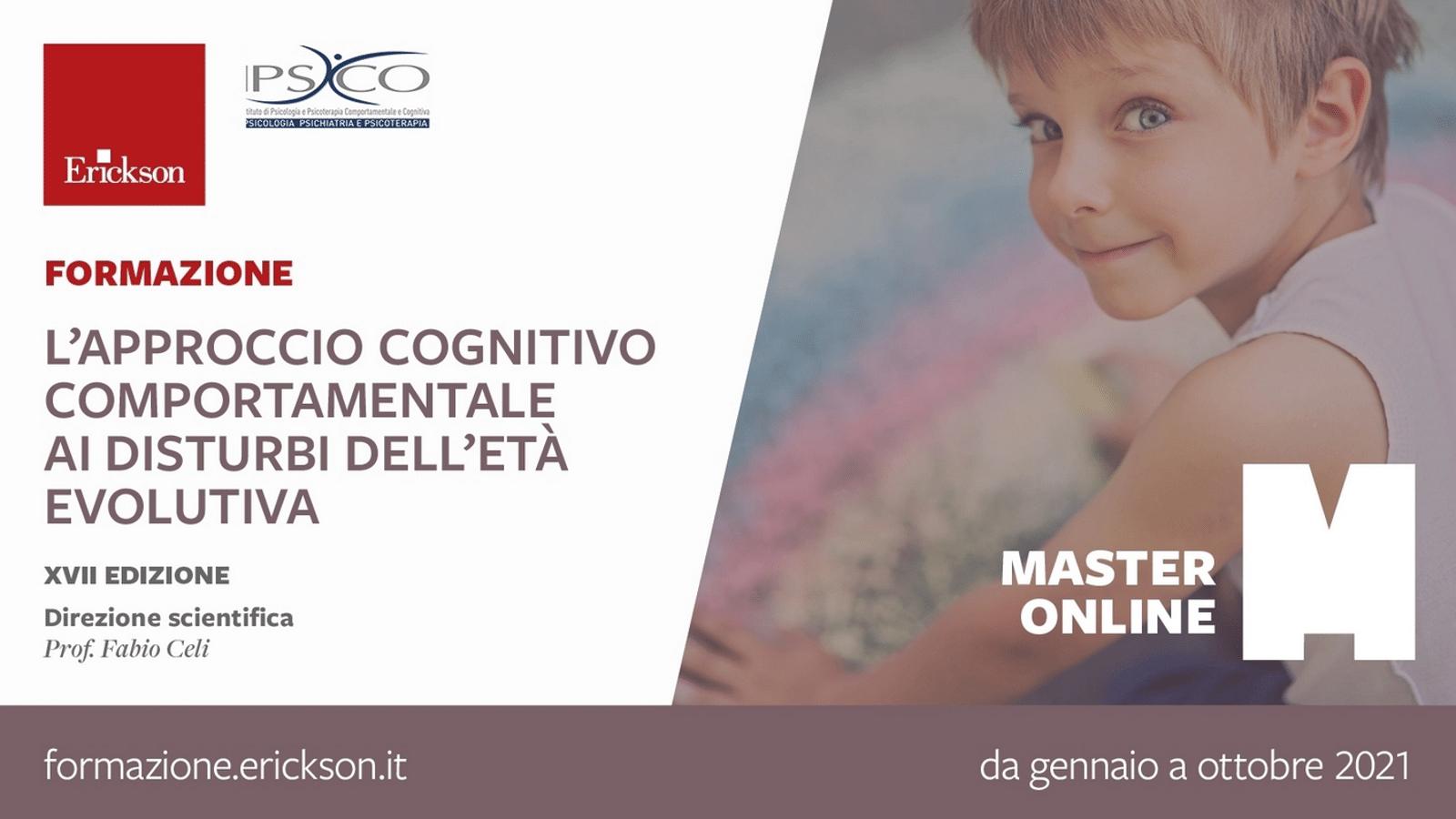 Approccio cognitivo comportamentale ai disturbi dell eta evolutiva - Master