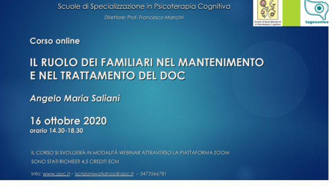 Il ruolo dei familiari nel mantenimento e nel trattamento del disturbo ossessivo compulsivo – Report del webinar