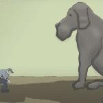 Depressione, ovvero il cane nero due video per aiutare chi ne soffre