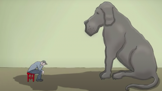 Avevo un cane nero, il suo nome era Depressione – Due video per aiutare chi ne soffre