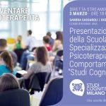 Studi Cognitivi Milano: presentazione della Scuola di Specializzazione in Psicoterapia Cognitivo-Comportamentale - Evento online, 03 Marzo 2021