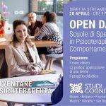 Presentazione dei corsi delle Scuole di Psicoterapia del gruppo Studi Cognitivi - Open Day ONLINE, 28 Aprile 2021