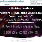"""Trattare il paziente antisociale """"non trattabile"""": la Forensic Schema Therapy - Workshop online, 18 Giugno 2021"""
