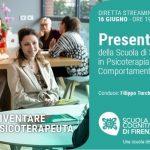 Scuola Cognitiva di Firenze: presentazione della Scuola di Specializzazione in  Psicoterapia - Evento in diretta streaming, 16 Giugno 2021
