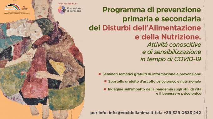 Programma di prevenzione primaria e secondaria dei Disturbi dell'Alimentazione e della Nutrizione: attività conoscitive e di sensibilizzazione in tempo di COVID-19 – Comunicato stampa