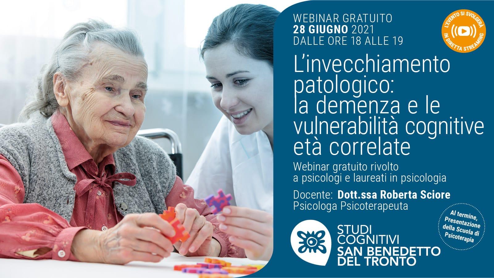 SAN BENEDETTO - 210628 - Invecchiamento patologico - Banner