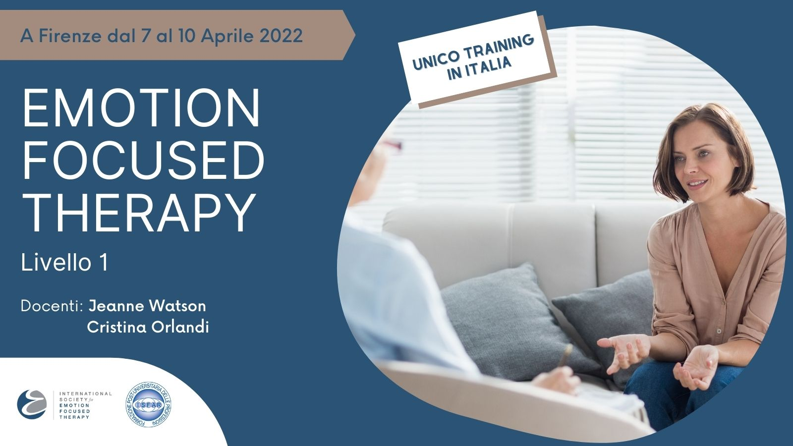 Emotion Focused Therapy CORSO 2022 - ISFAR 220407 - Banner