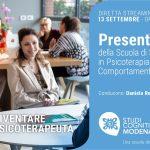 Studi Cognitivi Modena: presentazione della Scuola di Psicoterapia - Evento in Diretta Streaming, 13 Settembre 2021