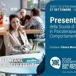 Studi Cognitivi San Benedetto del Tronto: presentazione online dei corsi di Specializzazione in Psicoterapia - 27 Settembre 2021